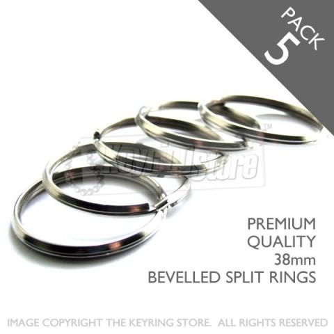 38mm Bevelled Split Rings PACK 5