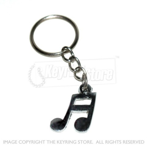 Musical Note Keyring