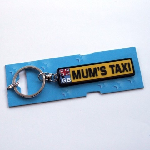 Mum's Taxi Number Plate Keyring
