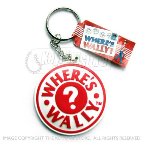 Where's Wally Logo Keyring