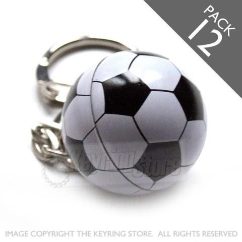 Football Keyrings - Pack 12