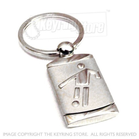 Quality metal football keyring - for soccer fans