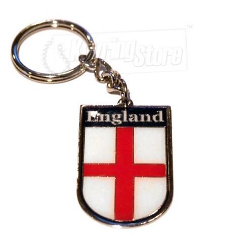 England Flag Metal football keyring - for soccer fans