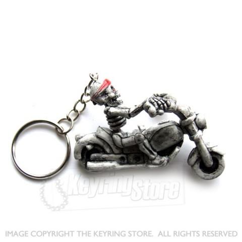 Skeleton Motor Bike Keyring