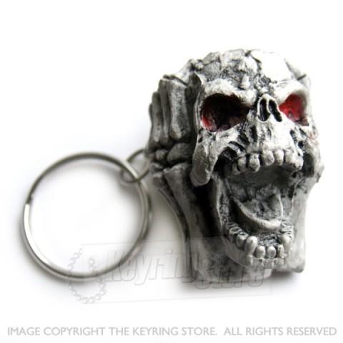 Open Skull Keyring