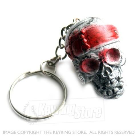 Bandana Skull Keyring