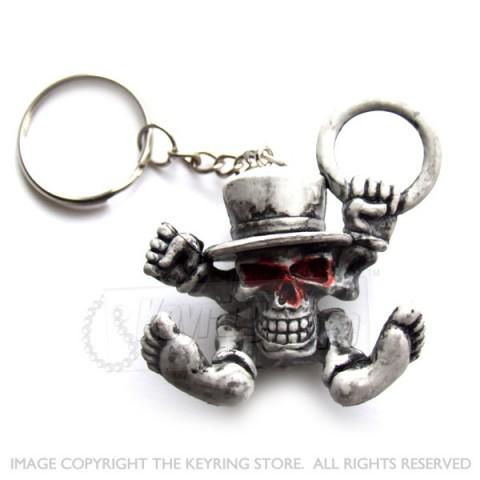 Skull & Hat Keyring