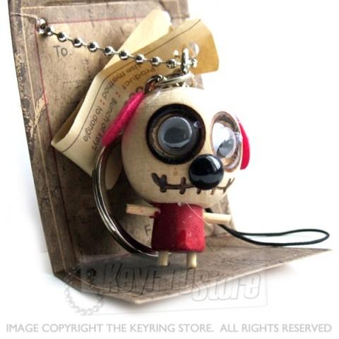 Voodoo Doll Dog Keyring