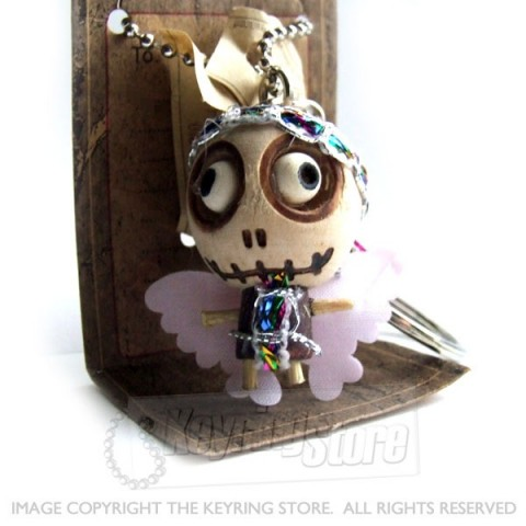 Voodoo Doll Angel Keyring
