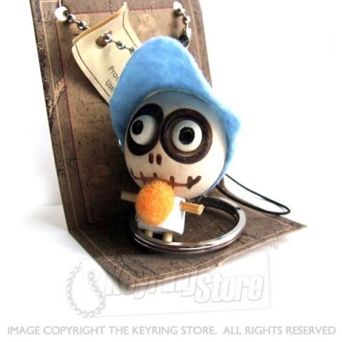 Voodoo Doll Cap & Ball Keyring
