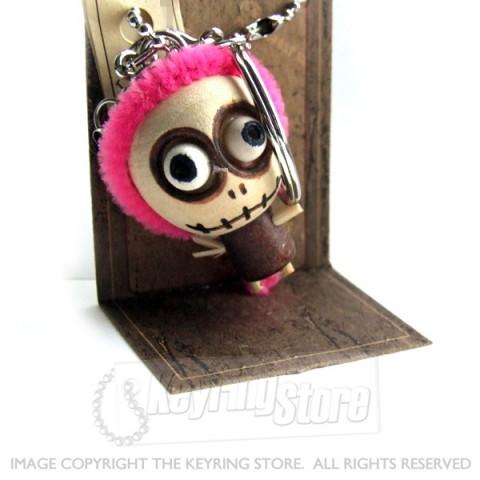 Voodoo Doll Pink Hair Keyring