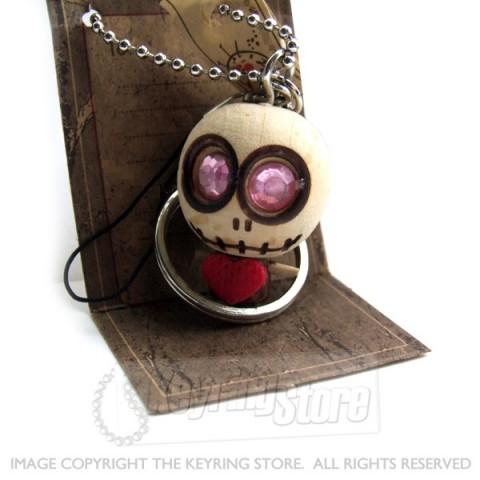 Voodoo Doll Heart Keyring