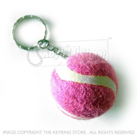 Tennis Ball Colour Keyring