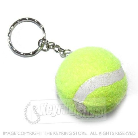 Yellow Tennis Ball Keyring