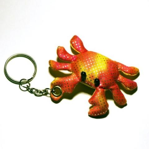 Crab Sand-filled keyring