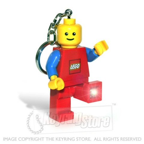 Lego Man Keyring RED