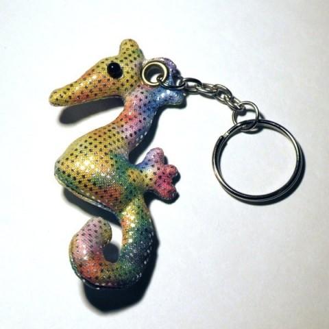 Sea Horse Sand-filled keyring