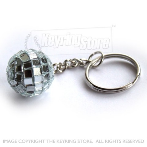 Mini Mirror Disco Ball Keyring - Glitter Ball