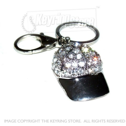 Riding Hat Diamante Keyring