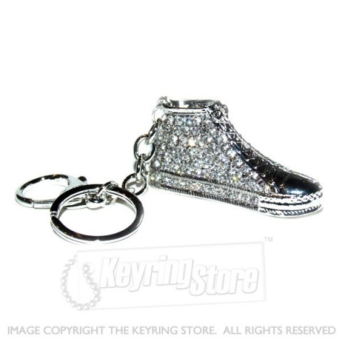 Sports Shoe Diamante Keyring