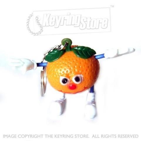 Smiley Orange Keyring
