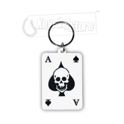 Ace of Spades Keyring