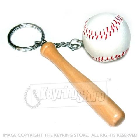 Baseball & Bat keyring