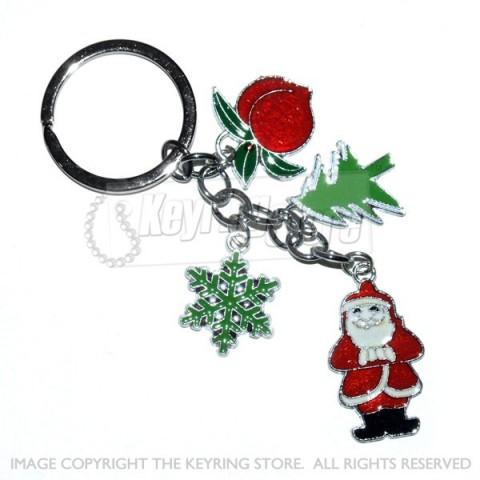 Premium Christmas Charms Keyring