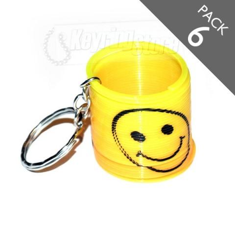 Smiley Spring Keyring - PACK 6