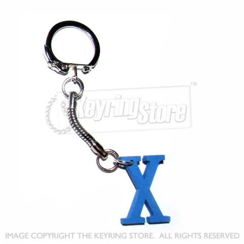 Letter X Wooden Keyring