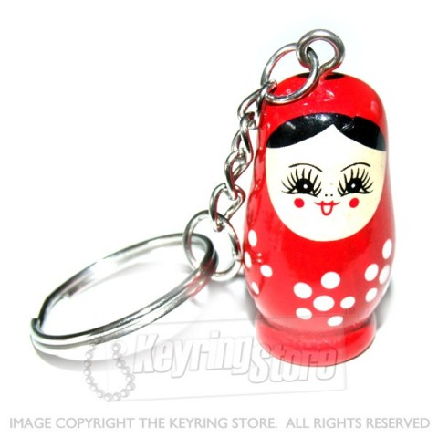 Russian Doll Keyring (red)