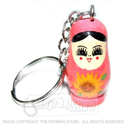 Russian Doll Keyring (peach)