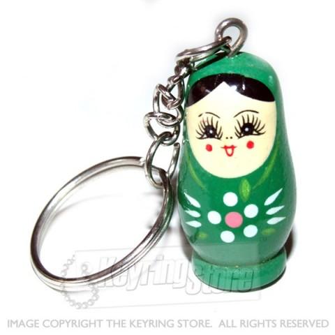 Russian Doll Keyring (green)