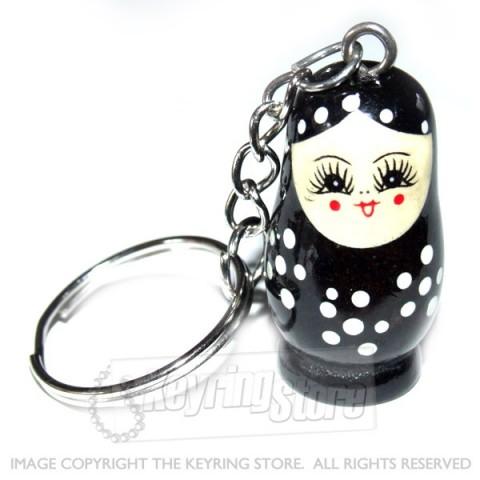 Russian Doll Keyring (black)