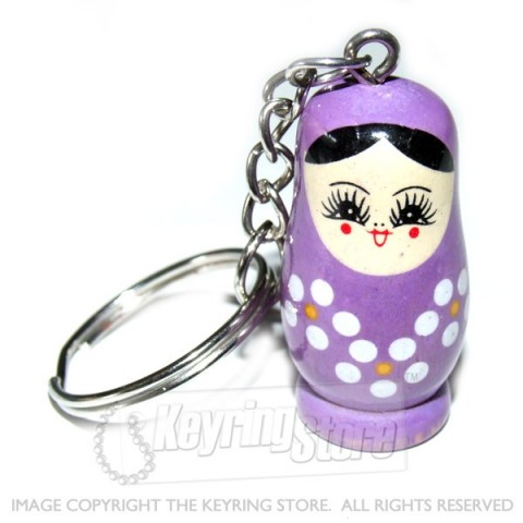 Russian Doll Keyring (purple)