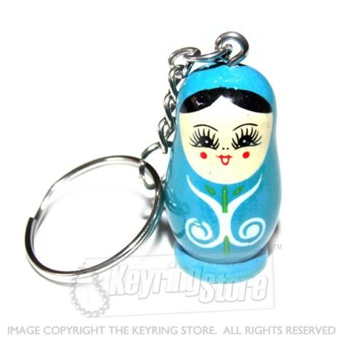 Russian Doll Keyring (blue)