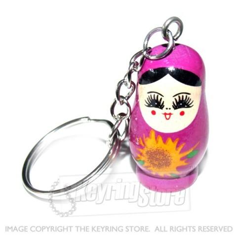 Russian Doll Keyring (pink)