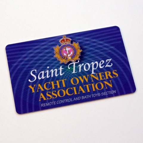 St Tropez Yacht Owners Assoc spoof membership card