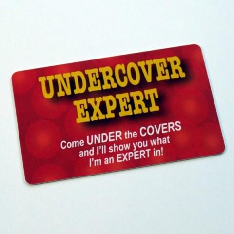 Undercover Expert spoof membership card