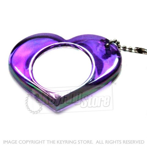 Heart Shaped Translucent Mirror keyring