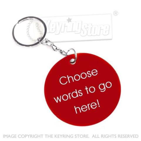 Personalised Plastic Tag Keyring (red)