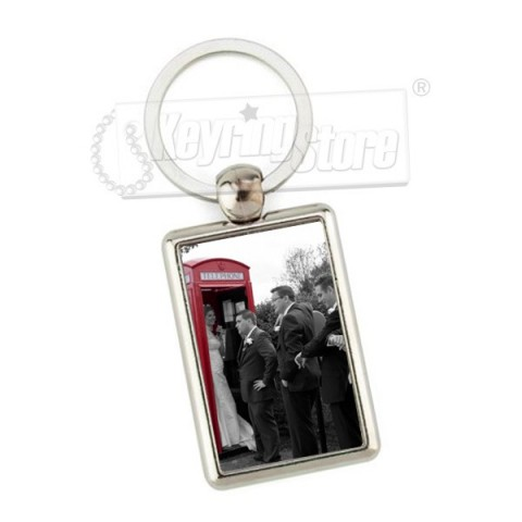Personalised Rectangle Metal Keyring
