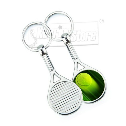 Personalised Tennis Racket Keyring