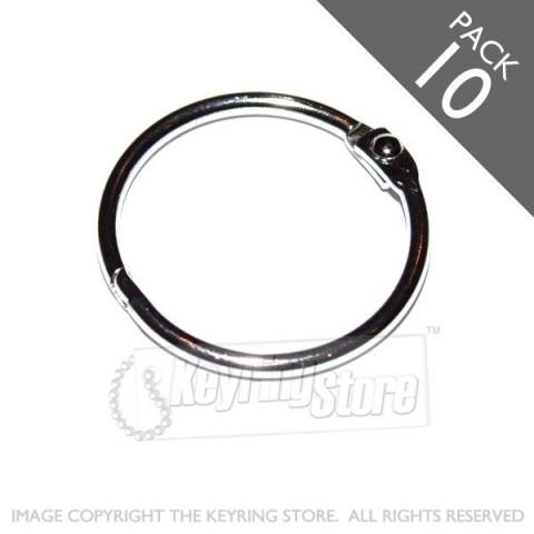 24mm Opening Hinged Binder Rings PACK 10