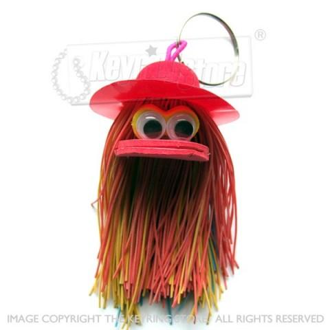 Fuzz People Keyring (hat)