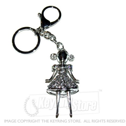 Dancer Diamante Keyring