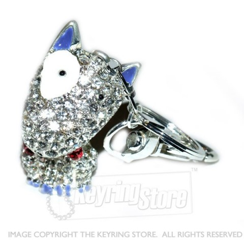 Dog Diamante Keyring