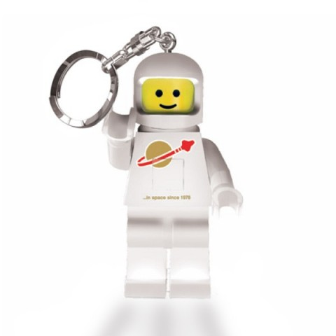 Lego Spaceman Keyring - White
