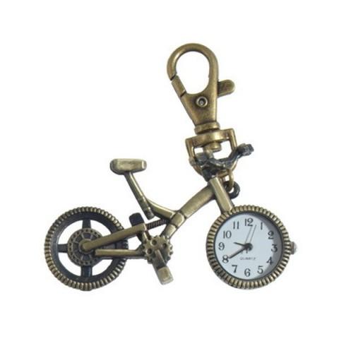 Bicycle Clock keyring