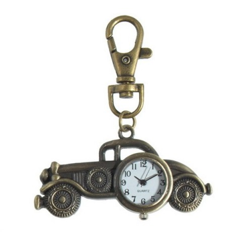 Motor Car Clock keyring